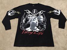Vintage TUPAC 2PAC Men's Black Long Sleeve Shirt T-Shirt THUG LIFE XXXXL 4XL 90s