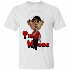 Tiger Woods T-shirt Funny Tiger Woods Golf Men's Tee Shirt Short Sleeve S-5XL