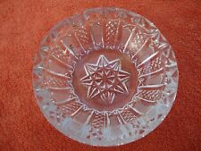 More details for crystal cut glass clear ashtray with star on base