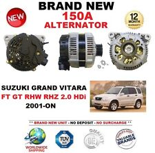 Para SUZUKI Grand Vitara FT GT RHW RHZ 2.0 HDI 2001-ON 150 A Nuevo Alternador