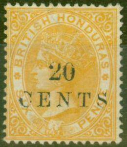 British Honduras 1888 20c on 6d Yellow SG29 Fine Mtd Mint