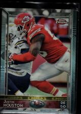 JUSTIN HOUSTON CHIEFS MINT SILVER & BLACK REFRACTOR SP 2015 TOPPS CHROME #59 GEM