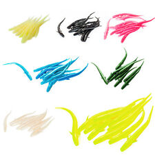 10pcs 7cm Mudfish Jelly Worm Soft Plastic Artificial Lure Grub Glow Assorted