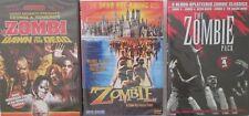 ZOMBIE 1-2-3-4-5: Dawn of the Dead- Zombi- George Romero- Lucio Fulci- NEW 5 DVD