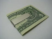 STERLING SILVER MONEY CLIP 925 Silver by Roswell Blackinton & Co. c1940s No Mono
