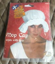 NEW Smiffy's Medieval Mop Cap With White Lace, Fancy Dress