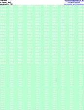 100 H0 Zufallsziffern-Sets weiß, Ep. 4, DR, Engschrift, 087-7100