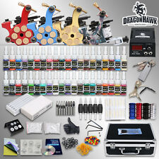 Professional Tattoo Machine Kit 4 Gun Power Supply 40 Inks Case Equipment Set