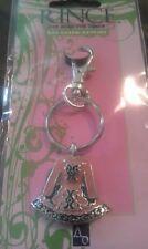 Irish Pewter and Enamel Pink Dancing Dress Bag Charm/Keyring