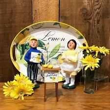 Byers Choice Summer Boy & Girl Selling Lemonade Adorable Set of 3 Signed by JB!