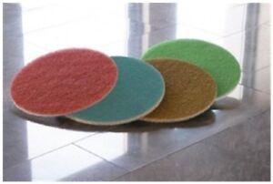 "KGS Diamond Floor Polishing Pads Stages 1,2,3, 4 Set 17"" Travertine Marble Stone"