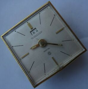 Jaeger LeCoultre Recital 8 day's alarm clock 55 mm. aside support missing