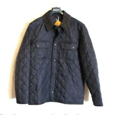 Barbour UK NEW Tinford Mens Quilted Jacket Navy Blue Medium