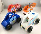 Melissa & Doug Emergency Vehicle Wooden Play Set With 4 Vehicles, 2 Play Figures