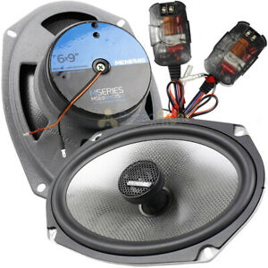 """Memphis Audio 6x9"""" Coaxial Speakers with In-Line Crossover 150W Max MSeries MS69"""