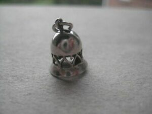 Vintage Silver Plated Miniature Bell Charm  180PUMPNOV20