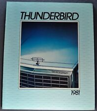 1981 Ford Thunderbird Brochure Town Landau Heritage Excellent Original 81 T-bird