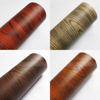 Wood Grain Contact Paper Vinyl Self-adhesive DIY Furniture Floor Wall Sticker