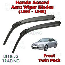 (93-98) Honda Accord Aero Wiper Blades / Front Flat Blade Wipers Estate Coupe