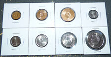 Sweden 1 Ore to 2 Kronor, Run of 8 1970 Coins w/ Pretty Luster