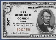 IN 1929  $5  ♚♚GOSHEN, INDIANA♚♚  PCGS GEM NEW 65 PPQ