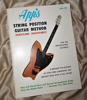 Guitar Lesson Book String Position Chord Method by OW Appleton Apps Music House!