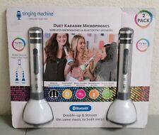 New listing Singing Machine Smm478 Duet Karaoke Microphones Bluetooth Speaker 2 pack