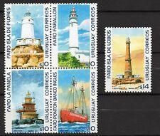 Lighthouses sand bank floating ship boat  URUGUAY Sc#2061/2 MNH STAMP