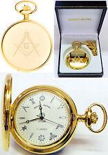 Mount Royal Masonic Hunter Pocket Watch Gold-Plated 17 Jewel Free Engrave 411pm