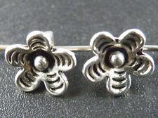 100pcs Tibetan Silver Flower Charms 9x7mm M58
