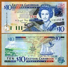 Eastern East Caribbean $10 (2003) Montserrat P-43m UNC