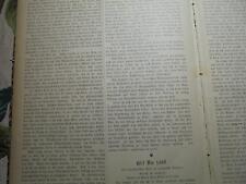 1892 Zeitung Juden 46 / Gerson Wolf / Hannover Ohestraße Bildungsanstalt