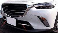 ABS Vorne Unten Zentrum Gitter Abdeckleiste 2 Stück für Mazda CX-3CX3 2015-2018