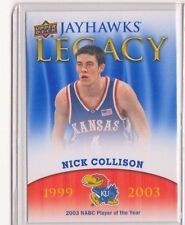 2013 Upper Deck Kansas Jayhawk Legacy #JL24 Nick Collison Mint Jayawks KU SP