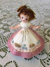 "Vintage Josef Originals 4"" pink Doll Figurine Little International Series France"
