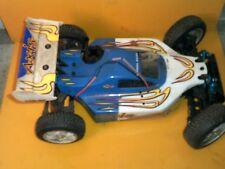 Vintage Duratrax Axis Nitro RC buggy car w/duratrax by futaba transmitter