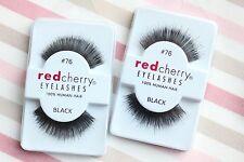2x Red Cherry FRIDA #76 falsche künstliche Echthaar-Wimpern Wimpernverlängerung