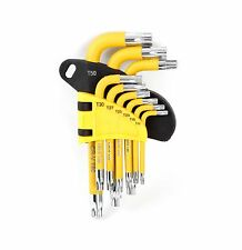 WORKPRO 9PC Short Arm Star Key Set CR-V SAE Metric Allen L Wrench Tool T10-T50