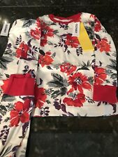 OLD NAVY Toddler Girl Floral 🌺 Long Sleeve & Pants Pajama Set Size 5T NWT