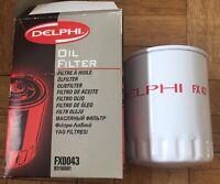Genuine Delphi Oil Filter FX0043 Peugeot 106 206 205 306 Citreon Berlingo C4 C5
