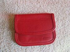 COACH Vintage Red Leather Mini Envelope Coin Purse Handbag Accessory Pre-Owned