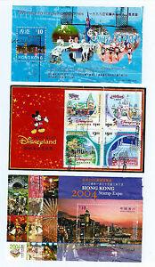 Stamp -3 x Hong Kong 1996 Atlanta,2003 Disneyland,2004 Stamp Expo S/S Used S-159