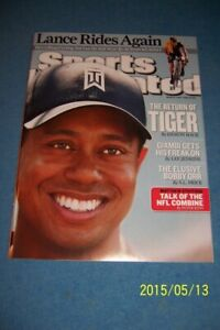 2009 Sports Illustrated TIGER WOODS NewsStand NO LABEL The RETURN OF TIGER