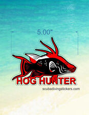 (Pack of 3) Hog Hunter Sticker for fishing or scuba divers 200-103