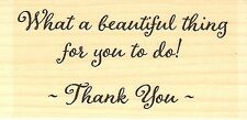 Thank You Text, Wood Mounted Rubber Stamp IMPRESSION OBSESSION - NEW, C9912