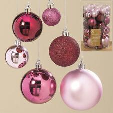 50 Stück Design Weihnachtskugeln Set �˜ 3-7cm Pink Christbaumkugeln Baum-Schmuck