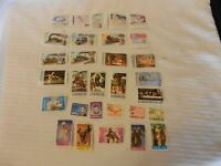 Lot of 30 Liberia Stamps, 1956, 1960s, 1973 Trains, Airmail, Kennedy, Olympics