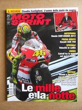 MOTOSPRINT n°34  2011 [Q75] Test Suzuki GSR 750 Honda CBR 1000 RR