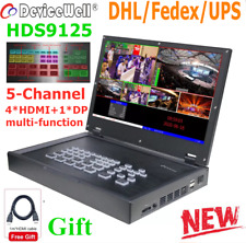 DeviceWell HDS9125 5-Channel 4*HDMI+1*DP inputs HDMI Live Stream Video switcher