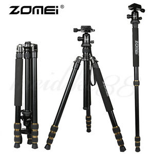 ZOMEI Q666 Portable Travel Lightweight Tripod&Ball Head For Canon DSLR Camera